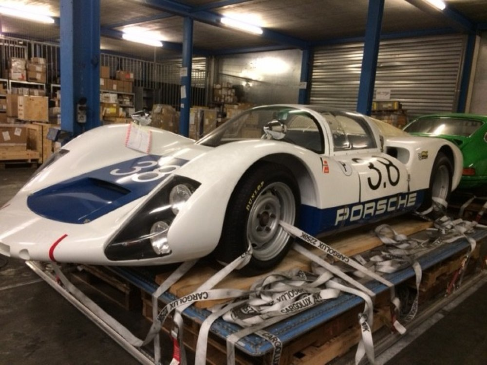 Porsche racecar white on airline pallet front.jpg